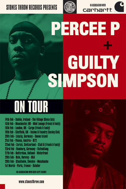percee p and guilty simpson tour poster